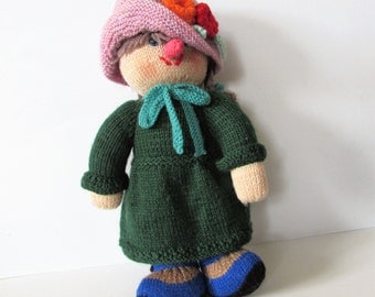 Stunning Vintage Hand Knitted Decorative Soft Doll /MEMsArtShop,