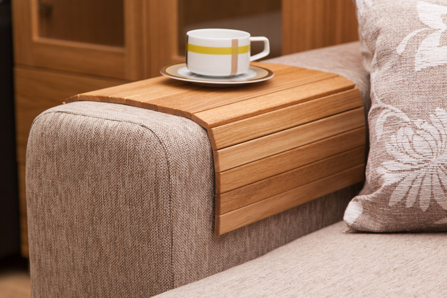 Sofa Tray Table OAK Wooden TV tray Modern Tray Table Unique