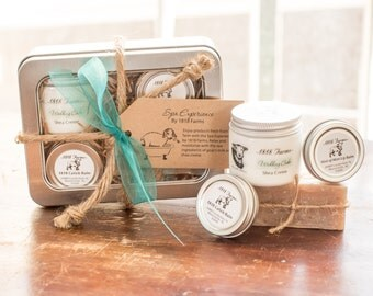 Spa Experience Gift Basket Tin by 1818 Farms - Head to Toe - Women's Gift - Wedding Cake