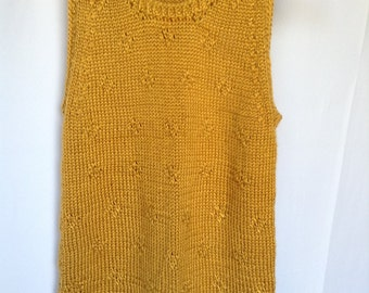 Camel knitted sleeveless top size S