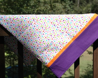 Polka dot pillowcase