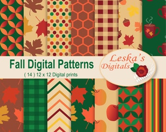 Fall digital paper, Fall paper, Fall patterns, Autumn digital paper, Autumn paper, autumn patterns, Harvest backgrounds, Harvest pattern