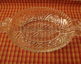 Unique Glass Relish Tray Related Items Etsy