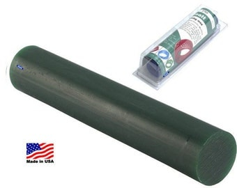 Matt Solid Bar Carving Wax Ring Tube Green 1-5/16 Diameter Jewelers Making  WA 366-070