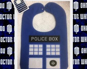 Dr. Who Police Box Bib