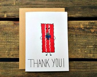 Bacon/Crossfit/Paleo/Beachbody/Fitness Thank You Card