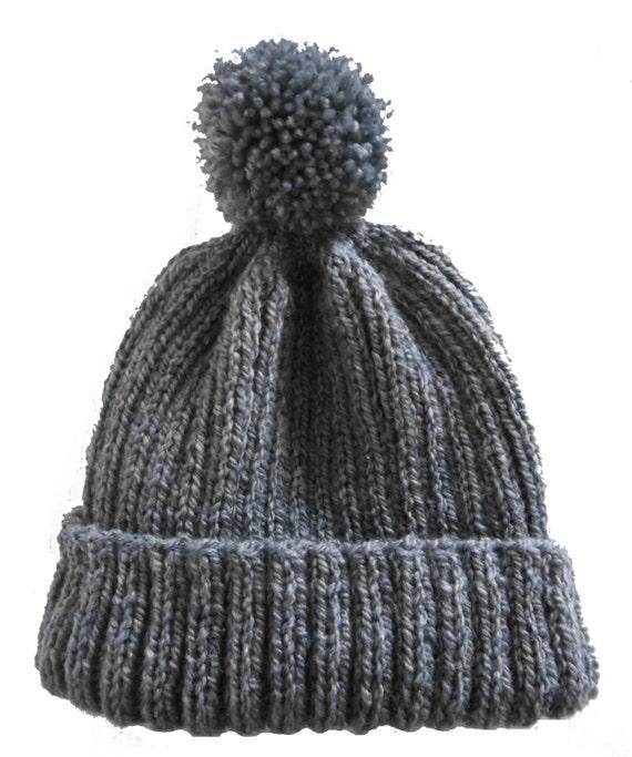 Pom Pom Hat Knitting Pattern : Items similar to Pom Pom Hat. PDF Knitting Pattern. on Etsy