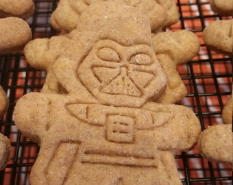 Star Wars Treat - Darth Vader Dog Treats - Peanut Butter - All Natural Dog Biscuits - Gourmet Dog Cookie - No Preservatives - Made to Order