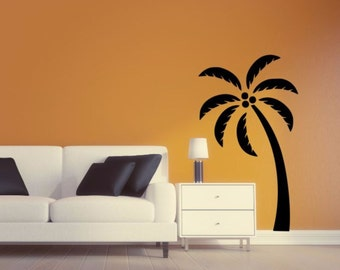 Nice Palm Tree Wall Decal   Palm Tree Silhouette Vinyl Wall Sticker Palm Tree 4 Awesome Design