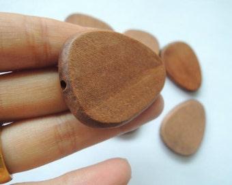 8 Pcs 45x64mm brown drop  Wood bead  (NW159)