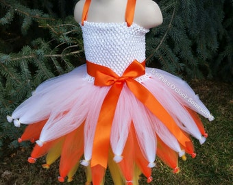 PICK YOUR COLORS! Candy Corn Tutu Dress, Candy Corn Costume, Candy Dress, Candy Corn Dress, Fall Dress, Halloween Dress, Birthday