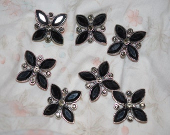 Black/silver Star pieces/figurines for craft use