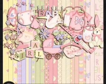 "Digital Scrapbook Kit, ""Saranna's Girl"""