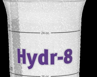Hydr-8 32 ounce Time Marked Water Bottles - Purple Travel