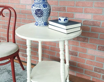 AVAILABLE: White Painted Side Table
