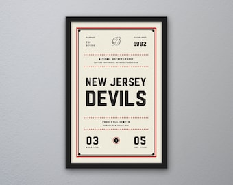"New Jersey Devils ""Day & Night"" Print"