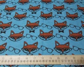 Flannel Fabric - Mr Fox - 1 yard - 100% Cotton Flannel