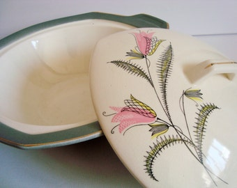 Vogue tableware serving dish with lid H. Aynsley & co. made in England
