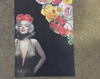 Marilyn collaged art print