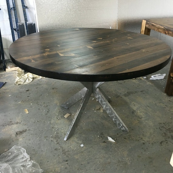 Custom round beetle kill dining tables 52 round for Round table 52 nordenham