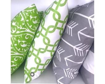 1 pillowcase GOTCHA white green 50 x 50 cm chain patterns graphically