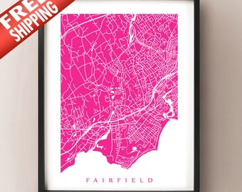 Fairfield, CT Map Print