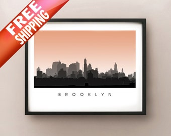 Brooklyn Skyline - NYC Poster - New York Art Print