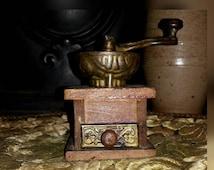 Antique Miniature Coffee Grinder Mill Salesman Sample Folkart