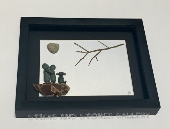 Engagement pebble art unique couple and dog gift for Unusual dog gifts