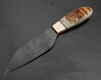 Ram's Horn & Damascus Seax