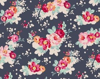 TILDA - Memory Lane Flowercloud Dark Slate - 1/2 yard