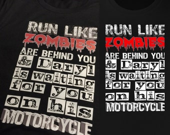 Run like Zombies TWD inspired!  All colours and sizes! number can be personalised
