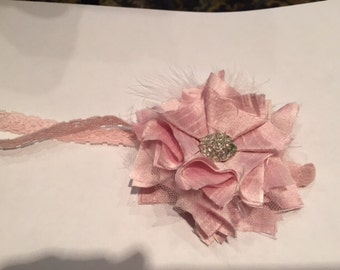 Raw silk baby bow