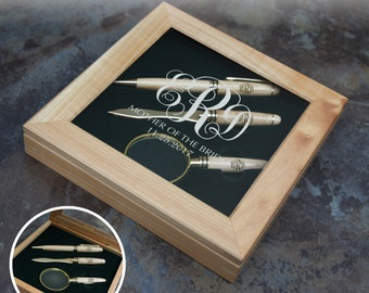 Personalized Gift Set Pen Set with Letter Opener & Magnifying Glass in Presentation Box Engraved with Any Design and Font Combination (Each)