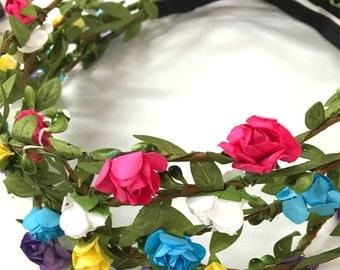 Grab bag : New set of 5/12 mix color Mini flower crown headband /halo/festival/concert/hippie flower headband /garden party / wedding