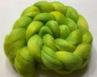 Baby Alpaca, 100g, Hand Dyed, bright green, A1507