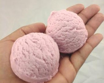 Bubble Bath Scoop: Crumble under running water for luxurious skin-softening bubbles! Sun Ripened Raspberry Scent