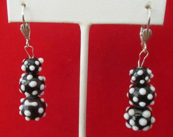 Pair of Vintage Czechoslovakian Lamp work Earrings