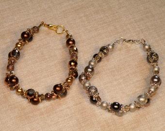 Sparkling Double-Weave Bracelets