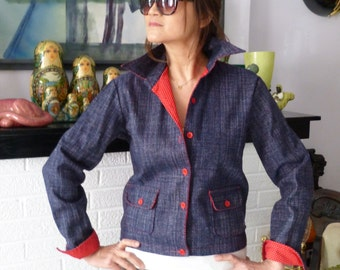 1980s Blue Denim Christian Dior Jacket