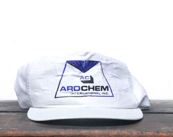 Vintage Distressed Trashed AroChem Trucker Hat Snapback Baseball Cap