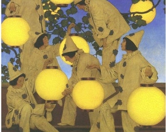 "Maxfield Parrish, The Lantern Bearers, about 1908, 12.5 x 16"" canvas art print"