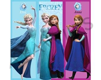 "Digital Download, Printable Bookmarks ""Frozen"" Disney"