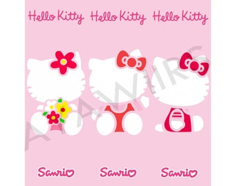 "Digital Download, Printable Bookmarks ""Hello Kitty"" Sanrio"