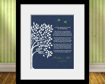 Wedding Gift From a Father, Gift Print from Dad, Poem for the Newlyweds, Personalized Gift From Dad to the Bridal Couple