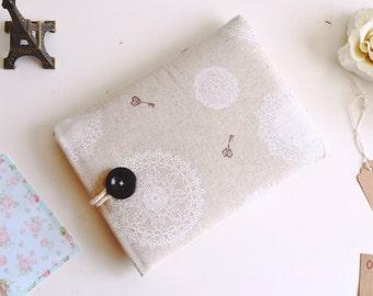 Kindle Sleeve, Kindle Cover, Kindle Paperwhite, Kindle Case, iPad Mini - Linen and Lace Sparkle