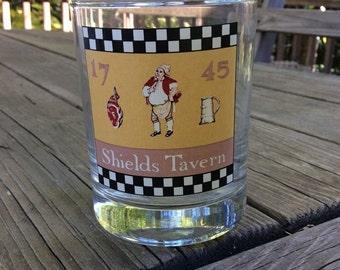 "1pc. 1980's Colonial Williamsburg ""1745 Sheild's Tavern"" Highball Glass *Vintage*"