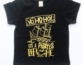 Pirate's Life tee for infants, toddlers, children