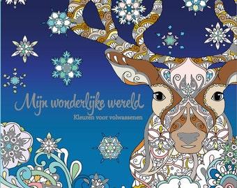 Colouring book for adults -Mijn wonderlijke wereld (My wonderful world) - Part 3 -46 hand-drawn pages- Masja's Artwork