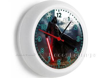 Darth vader clock etsy - Darth vader wall clock ...